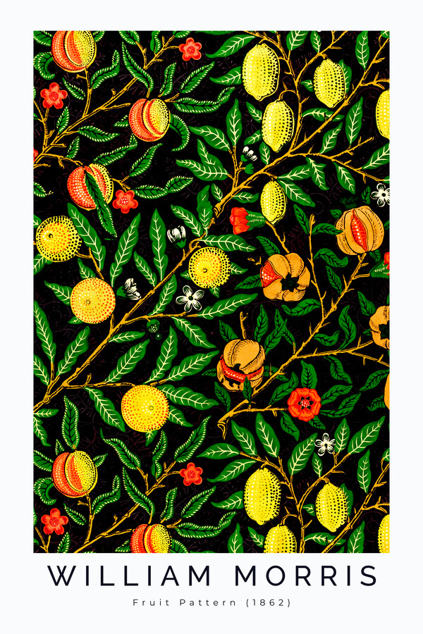 Fruit Pattern 1862 II by William Morris - Fineart photography by Art Classics