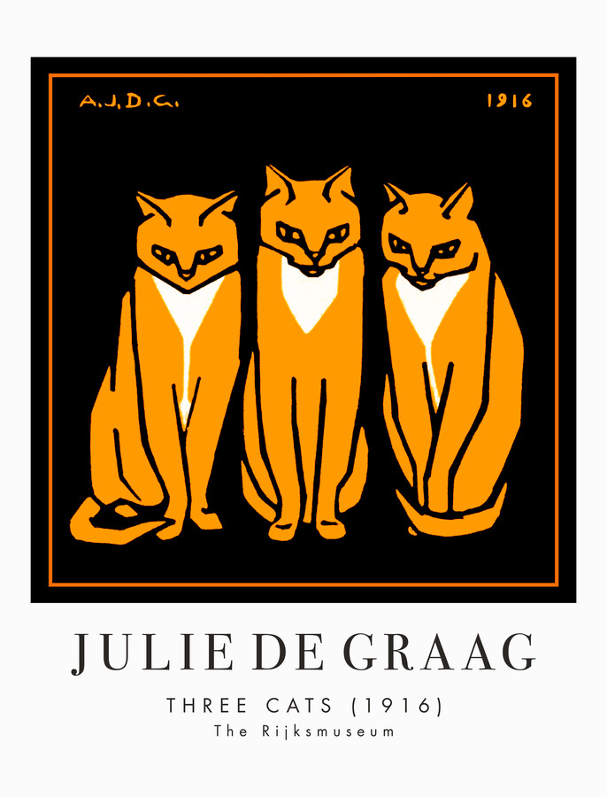 Three Cats by Julie de Graag - Fineart photography by Art Classics