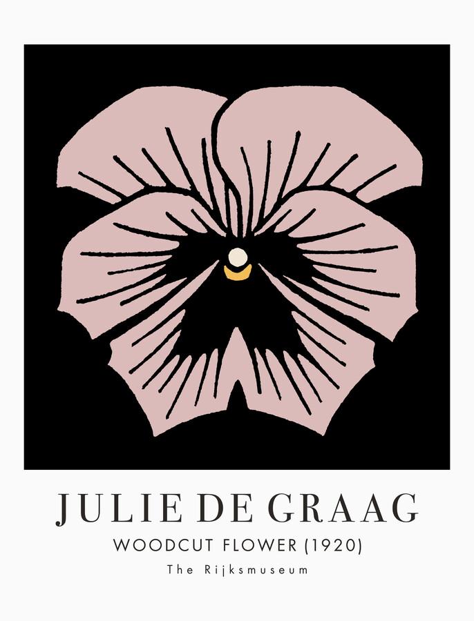 Woodcut Flower by Julie de Graag - Fineart photography by Art Classics