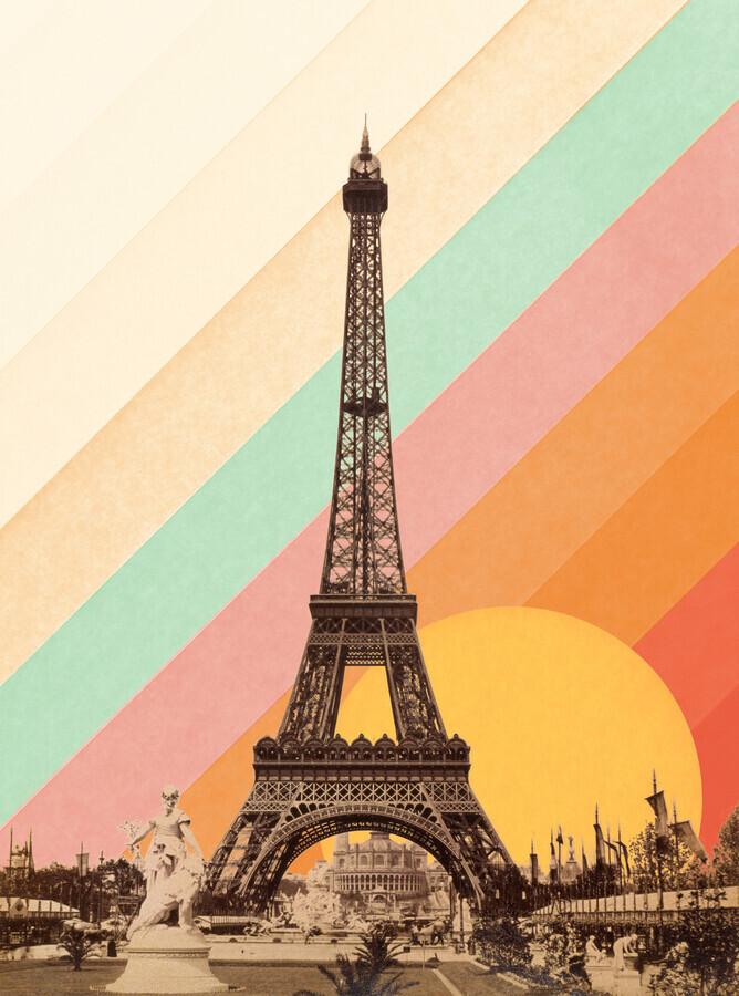 Eiffel Tower Rainbow - Fineart photography by Florent Bodart