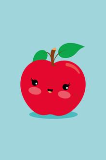 Pia Kolle, Apfel – Illustration für's Kinderzimmer (Deutschland, Europa)