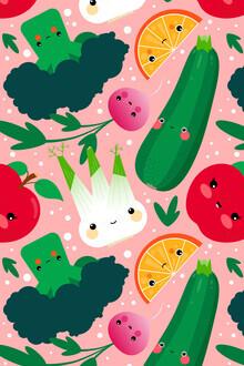 Pia Kolle, Obst und Gemüse – Bunte Illustration für die Küche (Deutschland, Europa)