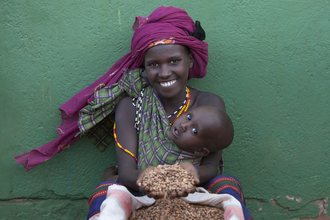 Walter Luttenberger, Die Getreidespende (Kenya, Africa)