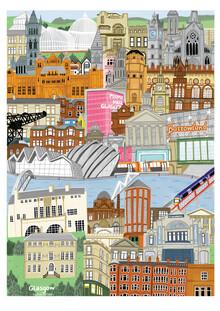 Kaitlin Mechan, Glasgow Map (United Kingdom, Europe)