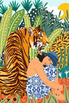 Uma Gokhale, Awaken The Tiger Within Illustration (India, Asia)