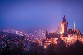 Martin Wasilewski, Winter Evening in Wernigerode (Germany, Europe)