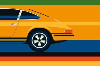 Bo Lundberg, Yellow vintage sports car #2 (Deutschland, Europa)