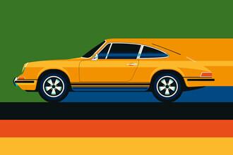 Bo Lundberg, Yellow vintage sports car (Germany, Europe)