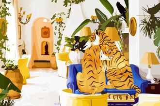 Uma Gokhale, Tiger Reserve Illustration (India, Asia)