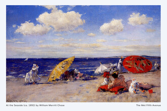Art Classics, William Merritt Chase: At the seaside - exhibition poster (Germany, Europe)