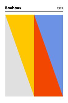 Bauhaus Collection, Bauhaus-Ausstellung (vielfarbig) (Deutschland, Europa)