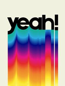 Ania Więcław, YEAH! neon rainbow typography (Poland, Europe)