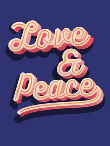 Ania Więcław, Love and Peace typography (Poland, Europe)