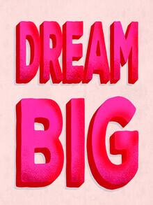 Ania Więcław, Dream Big - pink typography (Poland, Europe)