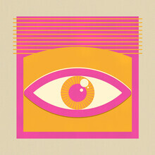 Ania Więcław, One Look Is Enough  - pink eye (Poland, Europe)