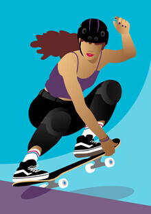 Pia Kolle, Mädchen mit Skateboard (Deutschland, Europa)
