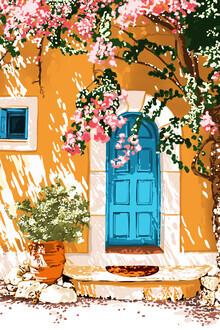 Uma Gokhale, Oh The Places You Will Go, Summer Travel Spain Greece Painting (India, Asia)