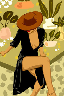 Uma Gokhale, Make it Worth Their While, High Fashion Brown Woman Illustration (Indien, Asien)
