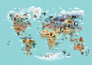 Dieter Braun, Worldmap Of Animals (Germany, Europe)