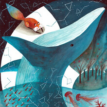 Marta Casals Juanola, Cosmic whale and red fox 2 (Spain, Europe)