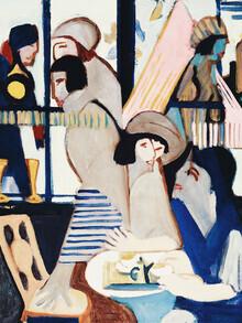 Art Classics, Ernst Ludwig Kirchner: Café (Germany, Europe)