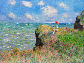 Art Classics, Claude Monet: Cliff Walk at Pourville (France, Europe)