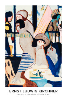 Art Classics, Ernst Ludwig Kirchner: Café - exhibition poster (Germany, Europe)