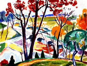 Art Classics, Henry Lyman Saÿen: Landscape Bridge Huntingdon Valley (France, Europe)