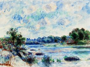 Art Classics, Pierre-Auguste Renoir: Landscape at Pont–Aven (France, Europe)