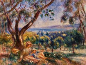 Art Classics, Pierre-Auguste Renoir: Landscape with Figures, near Cagnes (France, Europe)