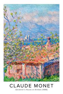 Art Classics, Claude Monet: Gardener's House at Antibes - exhibition poster (France, Europe)