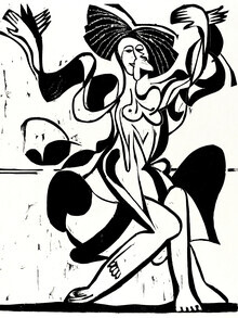 Art Classics, Ernst Ludwig Kirchner: Mary Wigman's Dance (Germany, Europe)
