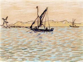 Art Classics, Jan Toorop: Sailing boats off the coast of Domburg (Netherlands, Europe)