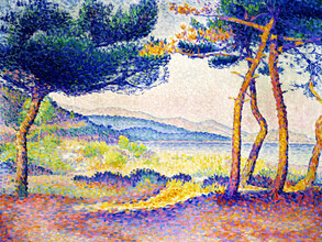 Art Classics, Henri-Edmond Cross: Pines Along the Shore (France, Europe)