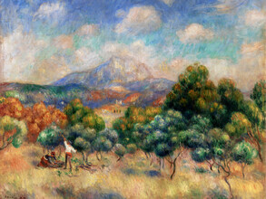 Art Classics, Pierre-Auguste Renoir: Mount of Sainte-Victoire (France, Europe)