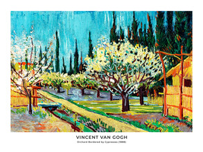 Art Classics, Vincent Van Gogh: Orchard Bordered by Cypresses - exh. poster (Germany, Europe)