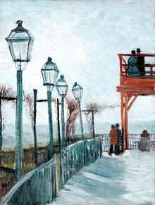 Art Classics, Vincent Van Gogh: Moulin de Blute-Fin, Montmartre (France, Europe)