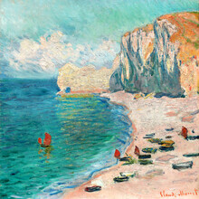 Art Classics, Claude Monet: The Beach and the Falaise d'Amont (France, Europe)