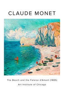 Art Classics, Claude Monet: The Beach and the Falaise d'Amont - exh. poster (France, Europe)