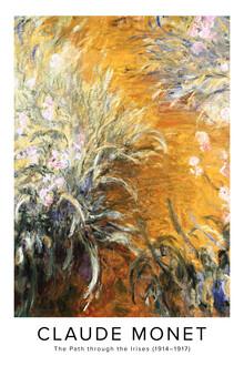 Art Classics, Claude Monet: Der Weg durch die Schwertlilien - Ausstellungsposter (Frankreich, Europa)