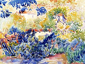 Art Classics, Henri-Edmond Cross: The Artist's Garden at Saint-Clair (France, Europe)