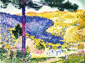 Art Classics, Henri-Edmond Cross: Valley with Fir (France, Europe)