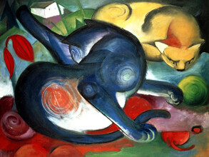 Art Classics, Franz Marc: Two cats, blue and yellow (Germany, Europe)