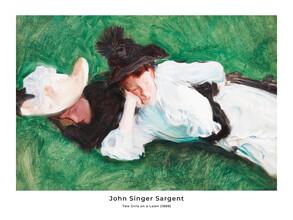 Art Classics, John Singer Sargent: Zwei Mädchen auf einem Rasen - Ausst.poster (Vereinigte Staaten, Nordamerika)
