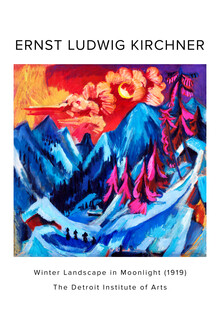 Art Classics, Ernst Ludwig Kirchner: Winter Landscape in Moonlight - exh. poster (Germany, Europe)