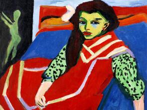 Art Classics, Ernst Ludwig Kirchner: Seated Girl (Germany, Europe)