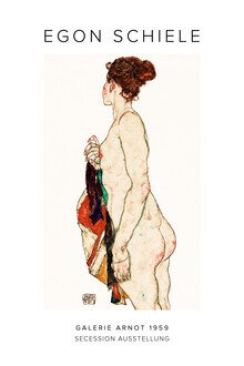 Art Classics, Egon Schiele: Standing Nude woman with a Patterned Robe - exh. poster (Austria, Europe)