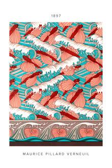 Art Classics, Maurice Pillard Verneuil: Poissons volants et vagues - exhibition poster (France, Europe)