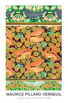Art Classics, Maurice Pillard Verneuil: Martinets et chèvrefeuille - Ausst.-poster (Frankreich, Europa)