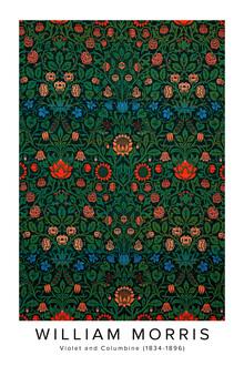 Art Classics, William Morris: Violett und Akelei - Ausstellungsposter (Großbritannien, Europa)